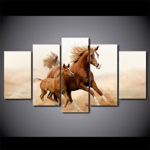 Horses Running Canvas