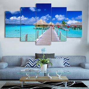 Island Beach Canvas