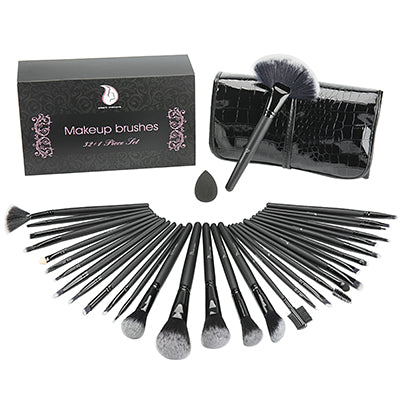 KIT MAKEUP - 32pcs ensemble complet de brosse & pinceau maquillage + saccoche design