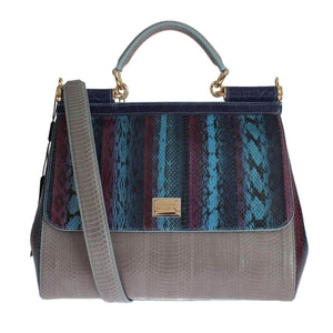 Multicolor Caiman Snakeskin Leather SICILY Hand Bag. -40%. Dolce   Gabbana dd40e1c5c1
