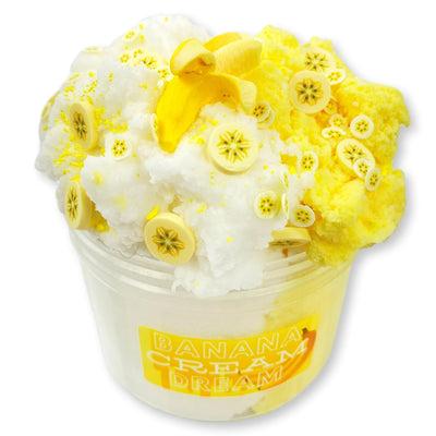 Banana Cream Dream Cloud Slime - Shop Slime - Dope Slimes