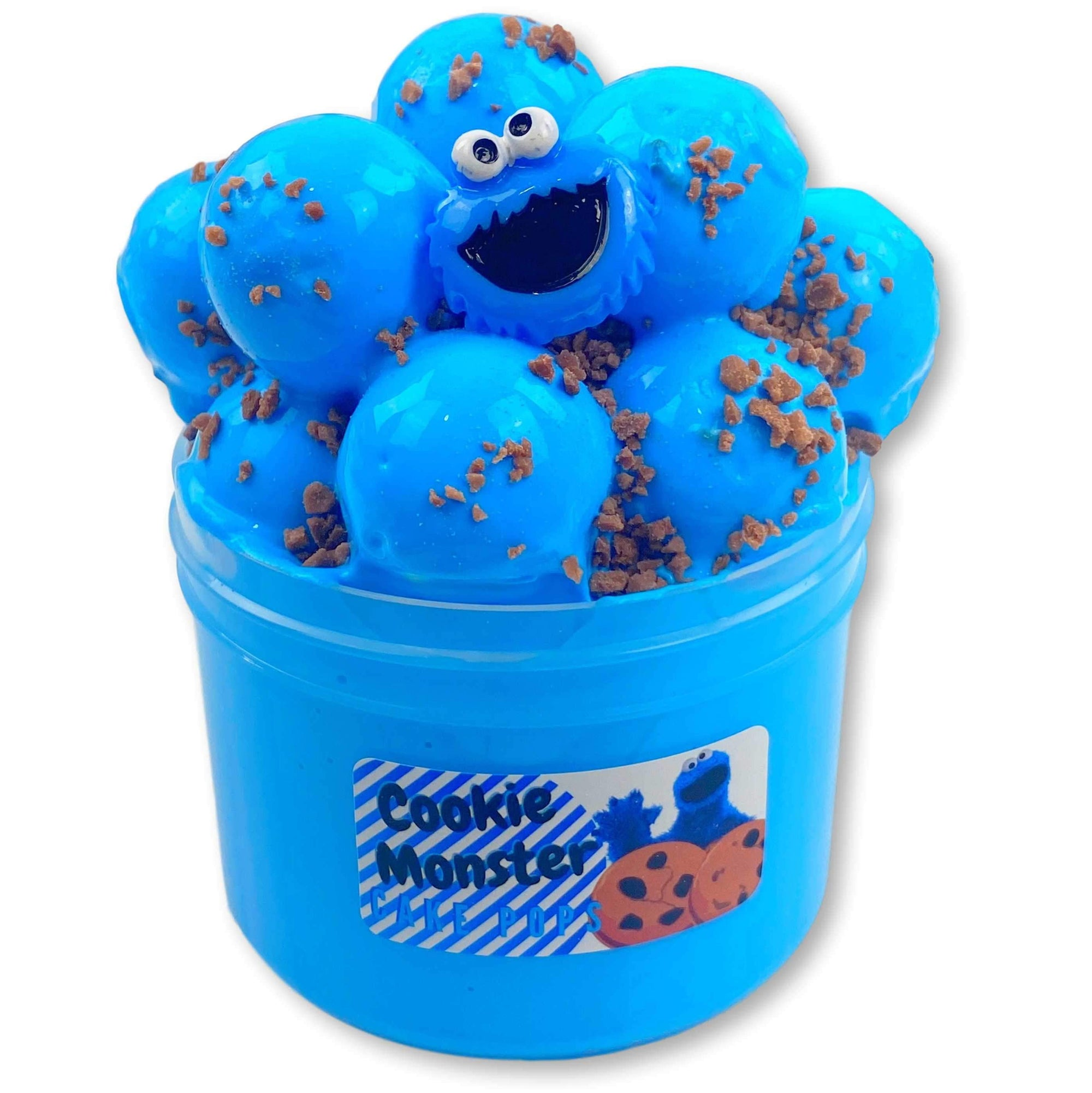 Cookie Monster Cake Pops Thick Slime - Shop Slime - Dope Slimes