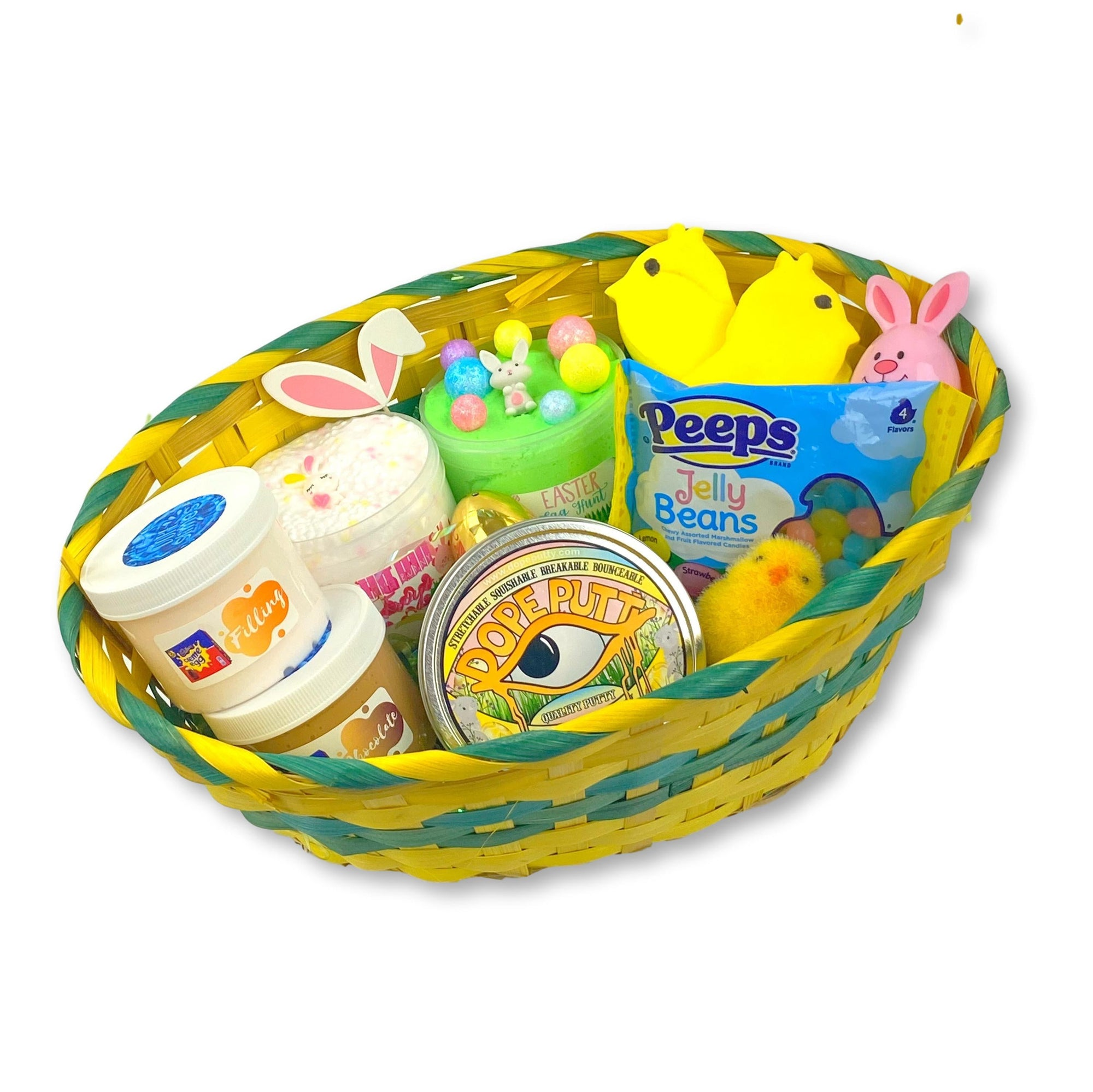 Easter Slime Basket Gift Set - Shop Slime - Dope Slimes