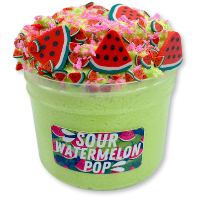 Sour Watermelon Pop Micro-Floam Slime - Shop Slime - Dope Slimes