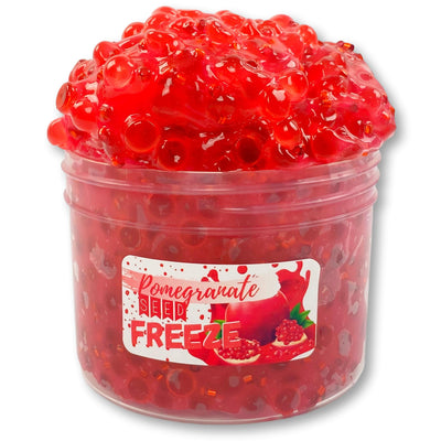 Pomegranate Seed Freeze Clear Bingsu Slime - Shop Slime - Dope Slimes