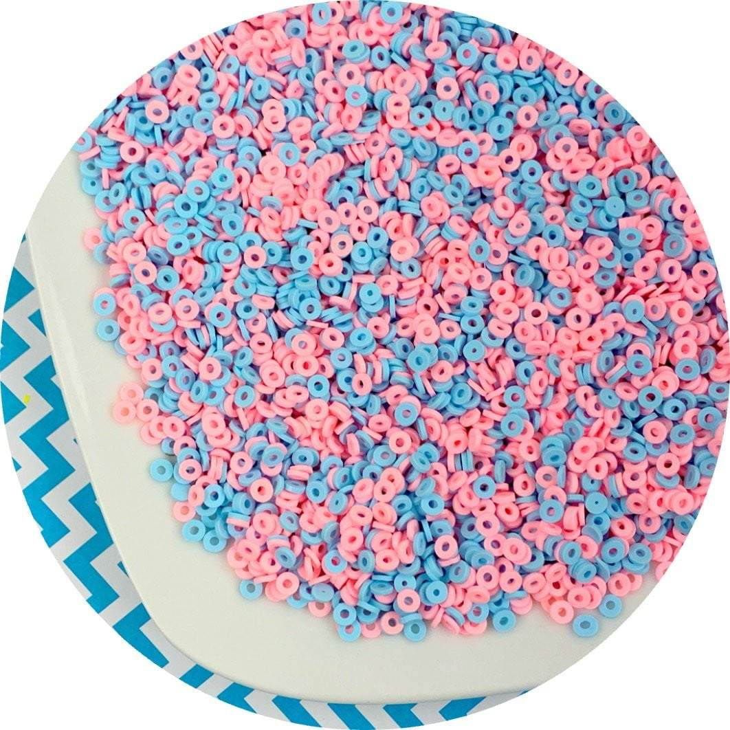 Cotton Candy Loop Sprinkles - Fimo Slices - Dope Slimes LLC - Dope Slimes LLC