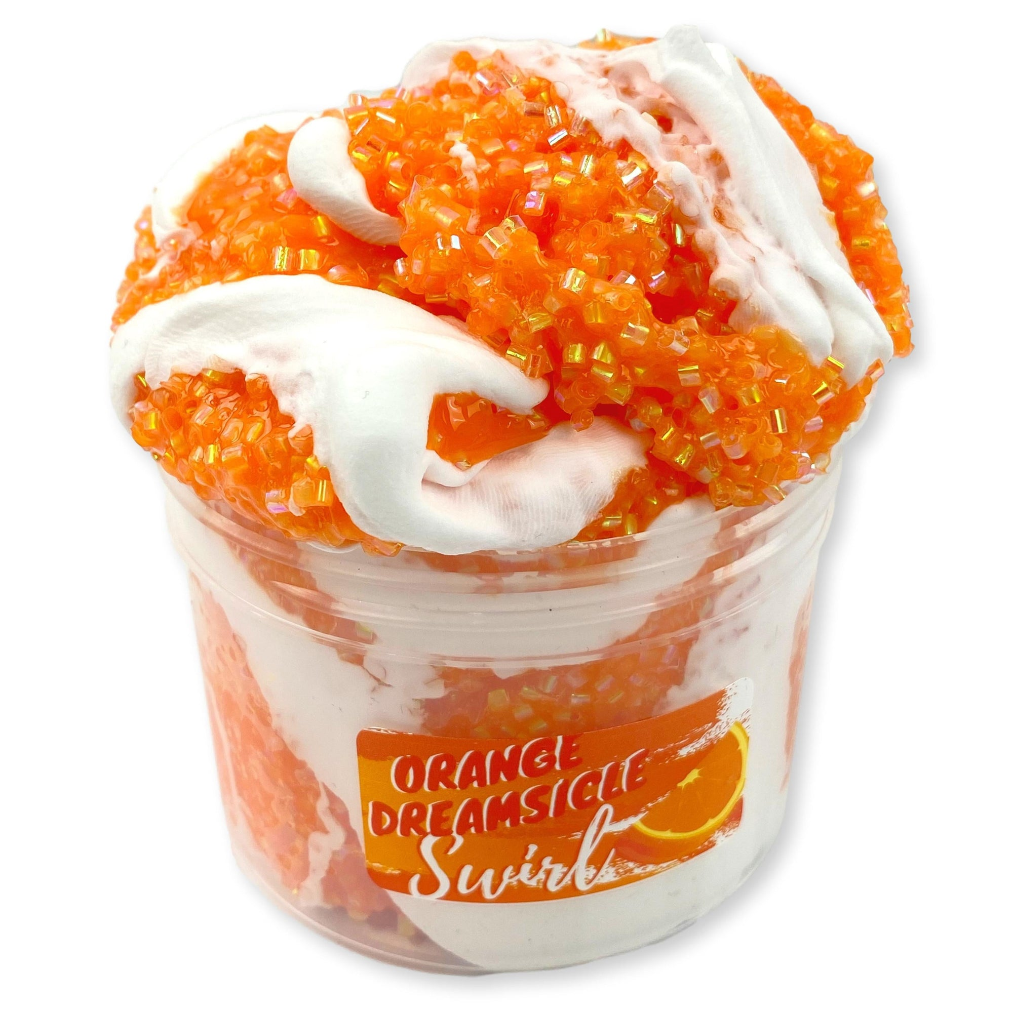 Orange Dream-sickle Swirl Bingsu Slime - Shop Slime - Dope Slimes