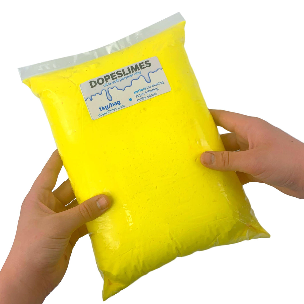 HUGE Yellow Soft Polymer Clay - 1kg - Buy butter slime Clay