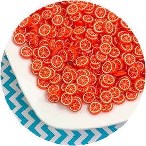 Jumbo Orange Fruit Fimo Slices