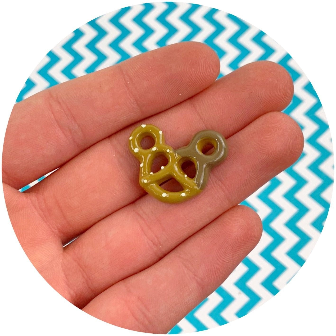 Chocolate Dipped Mickey Pretzel Charm | Slime Supplies | Dope Slimes