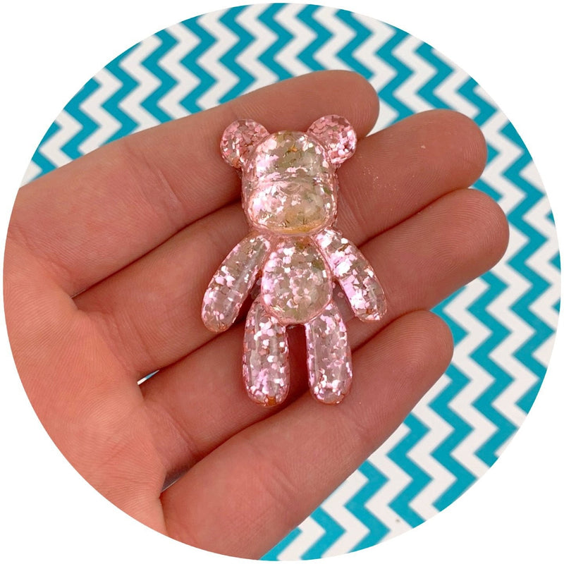 Holographic Glitter Bear Charms - Shop Slime Supplies - Dope Slimes