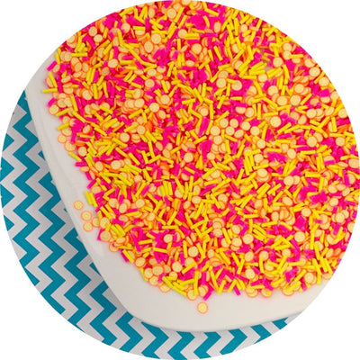 Sunset Lemonade Sprinkle Mix - Fimo Slices - Dope Slimes LLC - Dope Slimes LLC