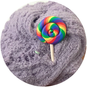 Candy Land Cloud Slime Scented w/ Charm mixed