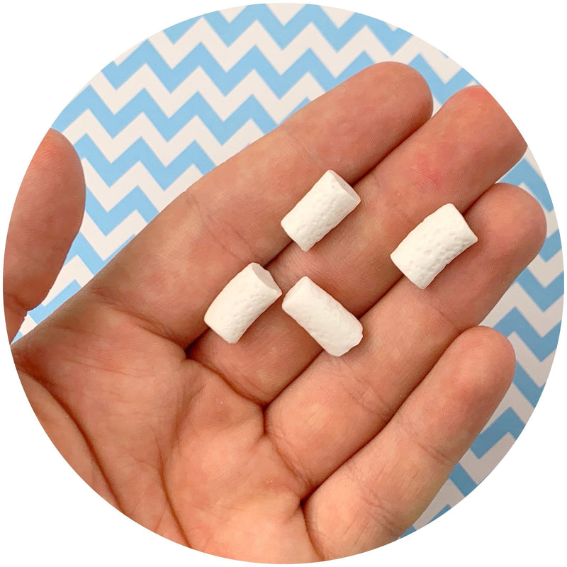 White Mini Marshmallows - Fimo Slices - Dope Slimes LLC - Dope Slimes LLC