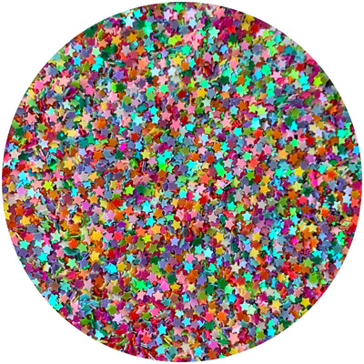 Multi Colored Solid Stars - Fimo Slices - Dope Slimes LLC - Dope Slimes LLC