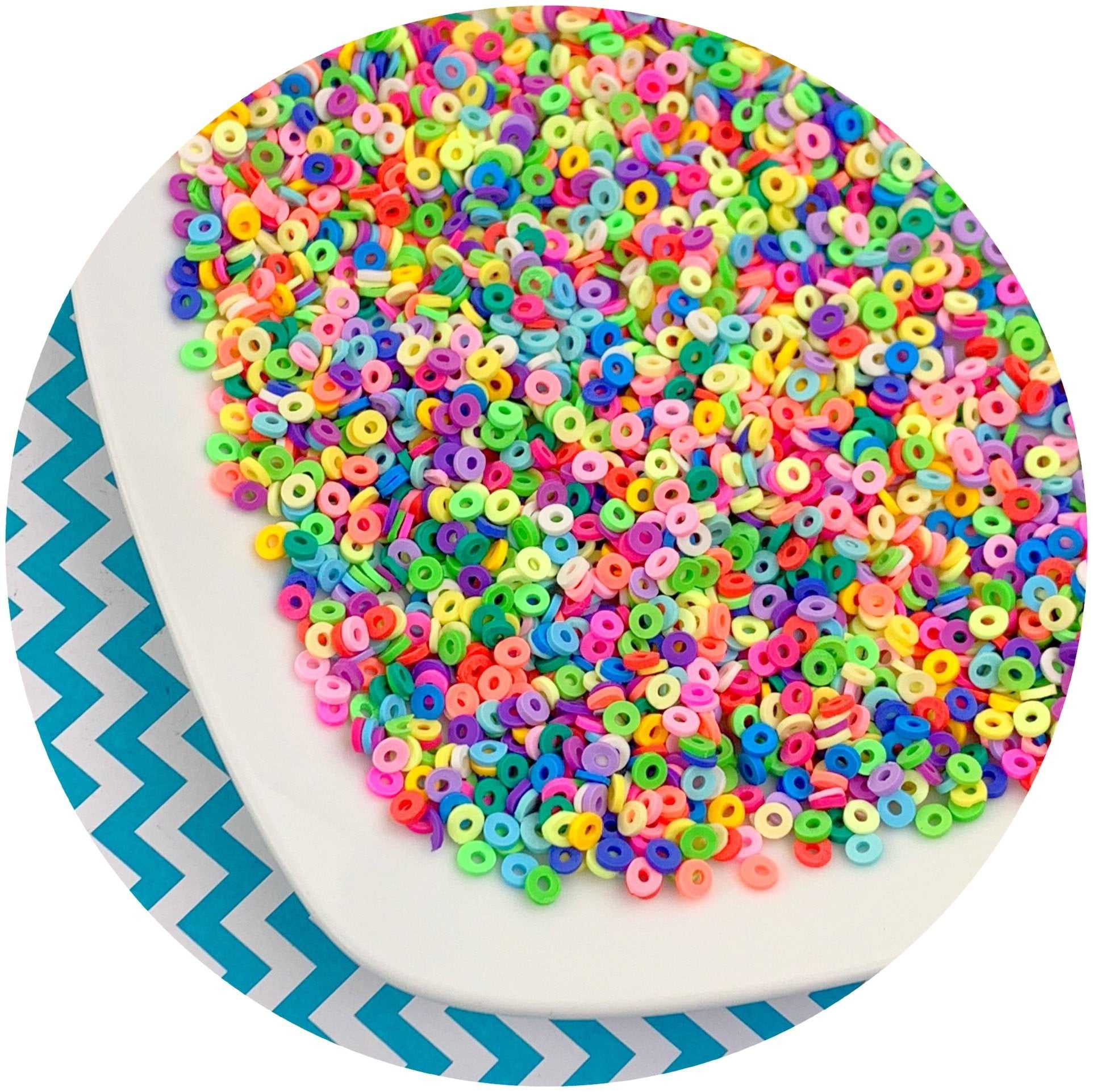 Fruit Loop Sprinkles - Fimo Slices - Dope Slimes LLC - Dope Slimes LLC