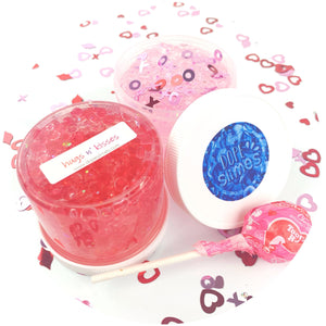 Hugs N' Kisses Clear Slime - Buy Slime - Dope Slimes Shop
