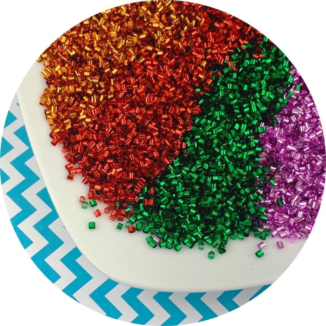 Solid Color Bingsu Beads - 7 colors (3 new!) - Fimo Slices - Dope Slimes LLC - Dope Slimes LLC