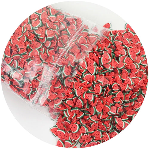 Watermelon Fimo Slices