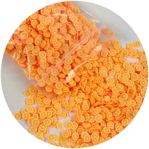 Orange Fimo Slices