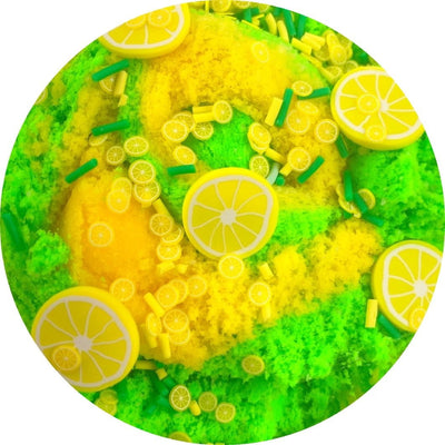 Lemon Lime Twist Cloud Slime - Shop Slime - Dope Slimes