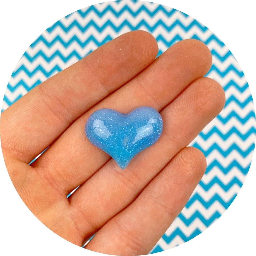 Pastel Heart Charm - Fimo Slices - Dope Slimes LLC - Dope Slimes LLC