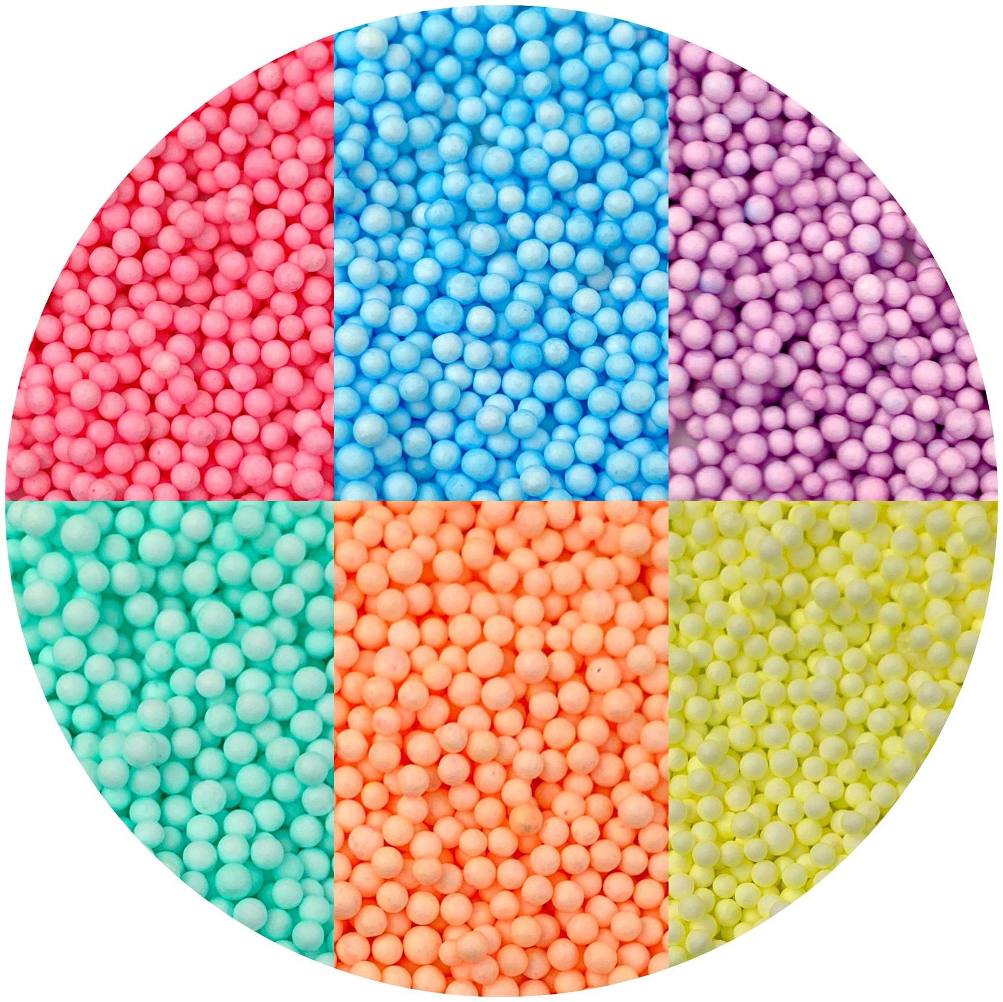 Large Pastel Foam Beads - Buy Slime Supplies - DopeSlimes