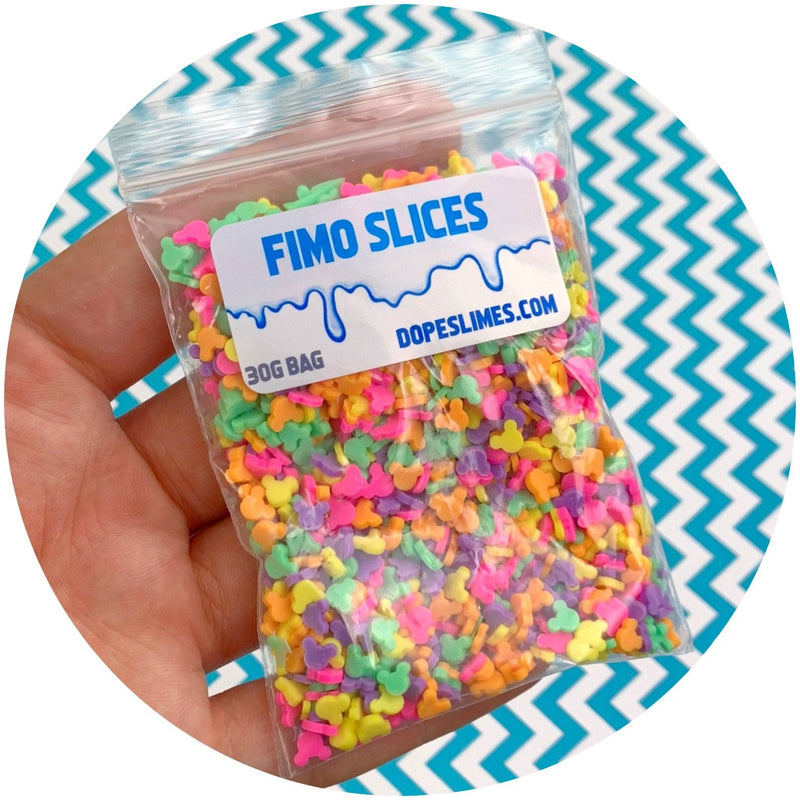 Mickey Mouse Sprinkles - Fimo Slices - Dope Slimes LLC - Dope Slimes LLC