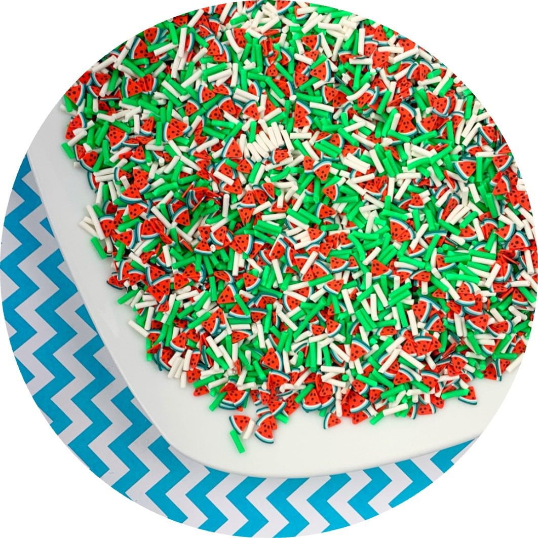 Watermelon Explosion Sprinkle Mix - Fimo Slices - Dope Slimes LLC - Dope Slimes LLC