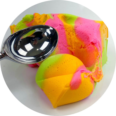 Rainbow Sherbet Unique Textured Slime - Shop Slime - Dope Slimes