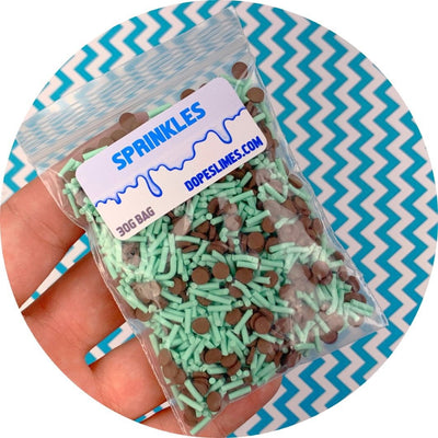 Mint Chip Sprinkle Mix - Fimo Slices - Dope Slimes LLC - Dope Slimes LLC