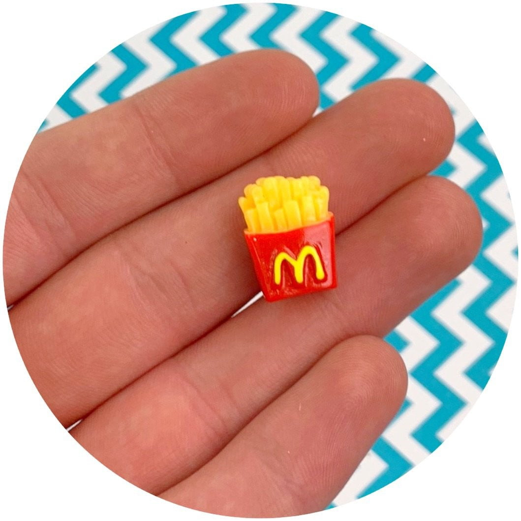 French Fry Charm - Fimo Slices - Dope Slimes LLC - Dope Slimes LLC