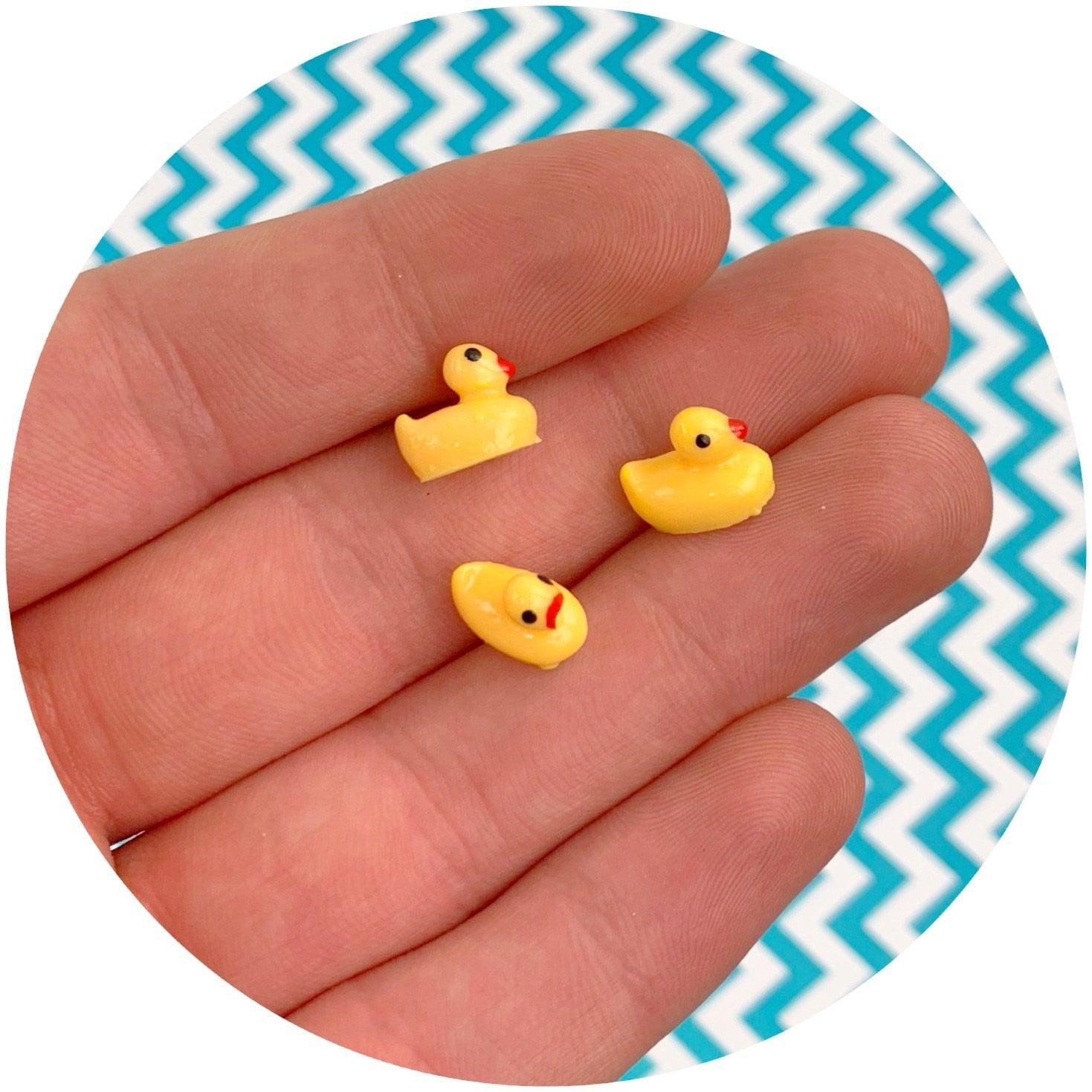 Baby Duck Charm - Fimo Slices - Dope Slimes LLC - Dope Slimes LLC