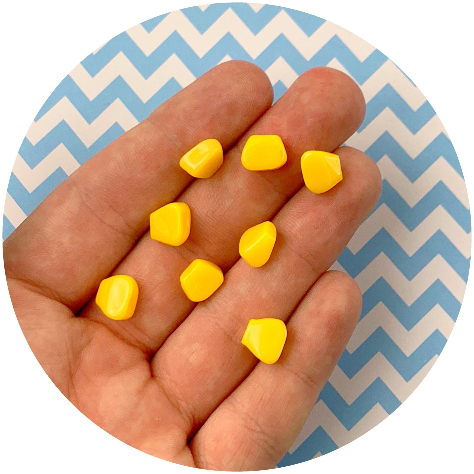 Corn Pieces - Fimo Slices - Dope Slimes LLC - Dope Slimes LLC