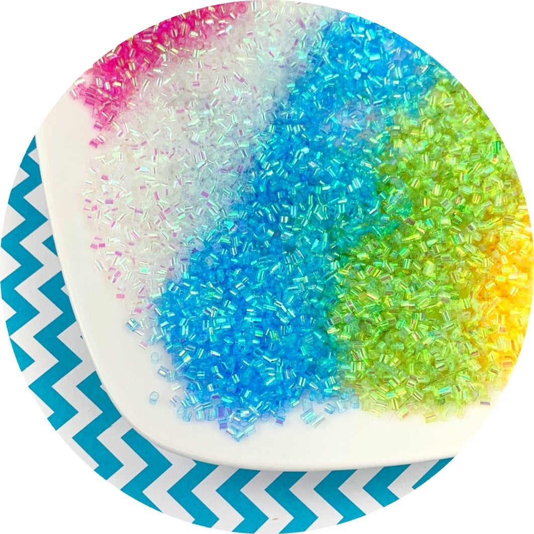 Iridescent Bingsu Beads - 7 colors (2 new!) - Fimo Slices - Dope Slimes LLC - Dope Slimes LLC