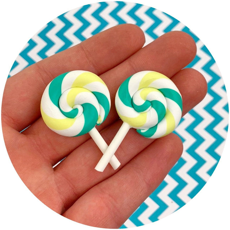 Lollipop Charms - Fimo Slices - Dope Slimes LLC - Dope Slimes LLC
