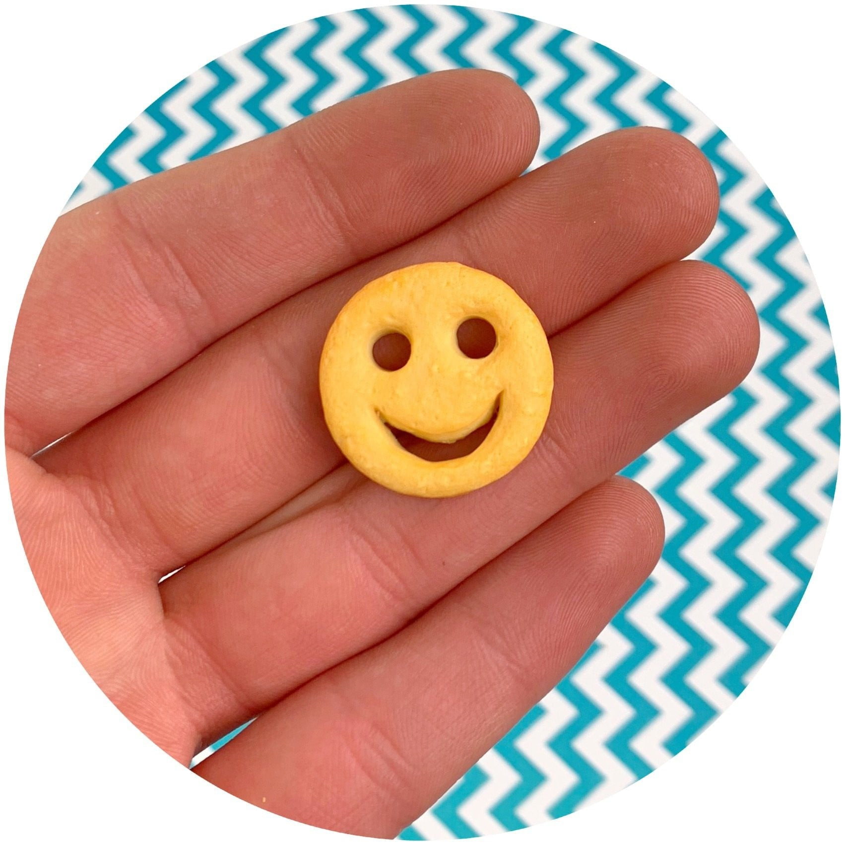 Smiley Fry Charm - Fimo Slices - Dope Slimes LLC - Dope Slimes LLC