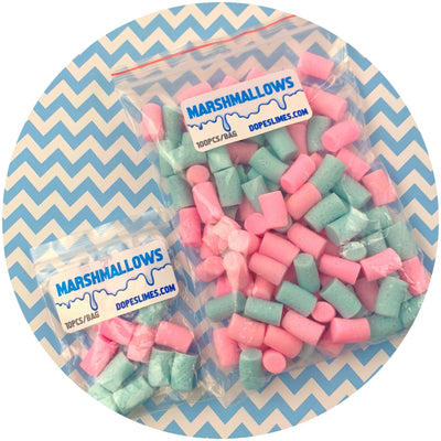 Cotton Candy Mini Marshmallows - Fimo Slices - Dope Slimes LLC - Dope Slimes LLC