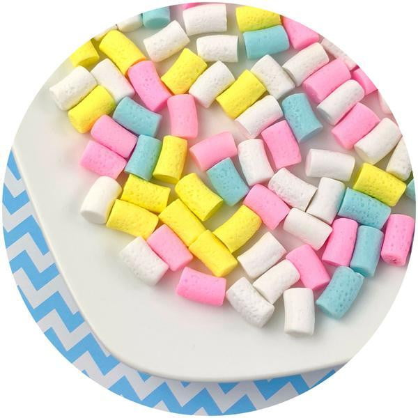 Mixed Mini Marshmallows - Fimo Slices - Dope Slimes LLC - Dope Slimes LLC