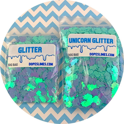 Turquoise Holographic Unicorns - Shop Slime Supplies - Dope Slimes