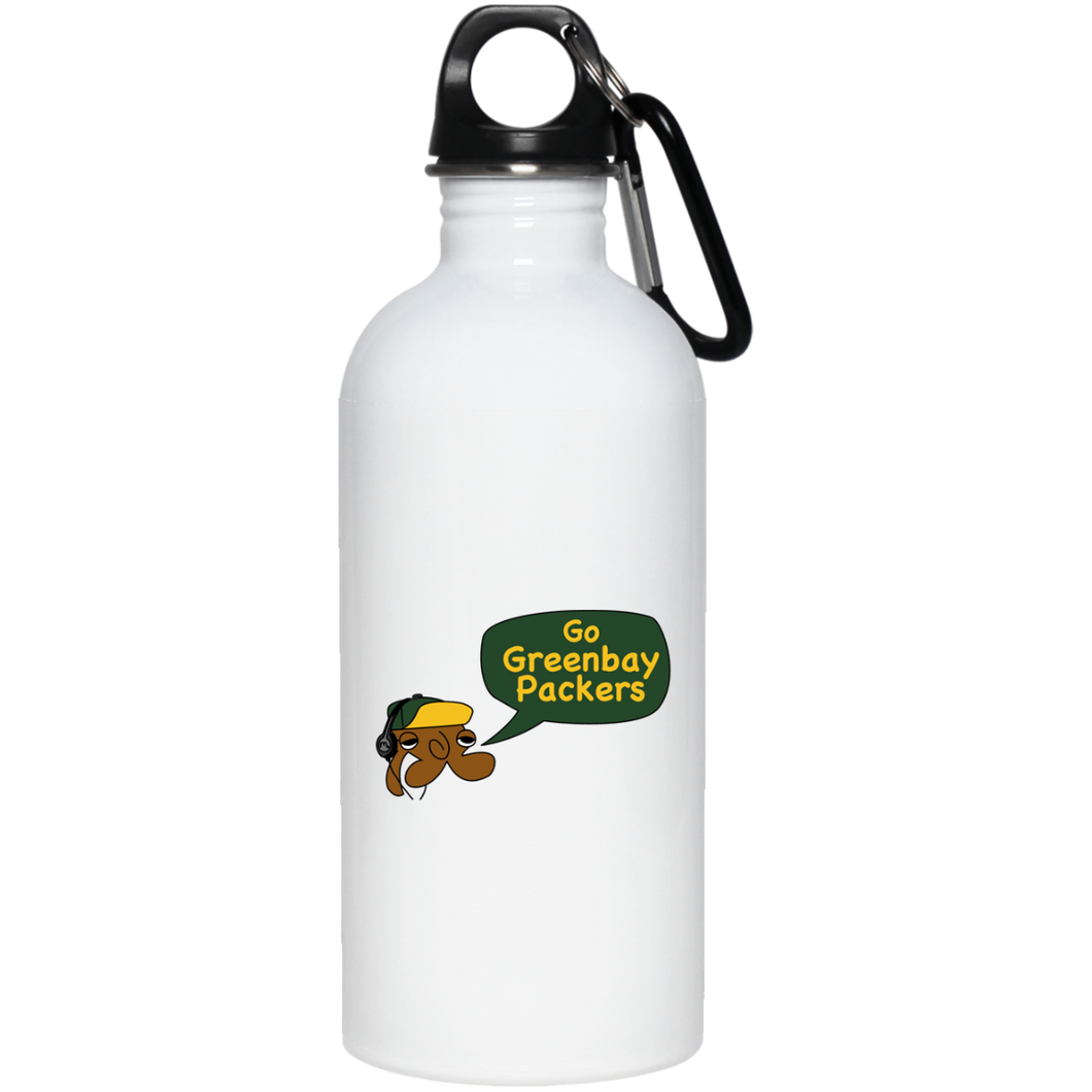 JimmyRay Green Bay Packers 20 oz. Stainless Steel Water Bottle