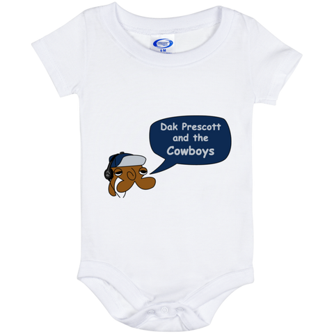 Jimmyraynemkids Dak Prescott and the Dallas Cowboys Baby Onesie 6 Month