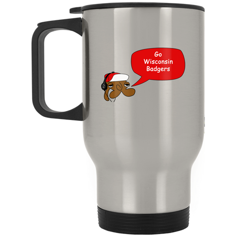 JimmyRay Wisconsin Badgers Travel Mug
