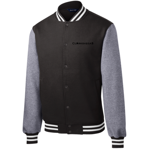 Clarksvegas Black Star Fleece Letterman Jacket
