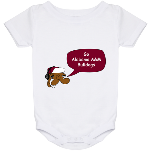 Jimmyraynemkids Alabama A&M Bulldogs Baby Onesie 24 Month