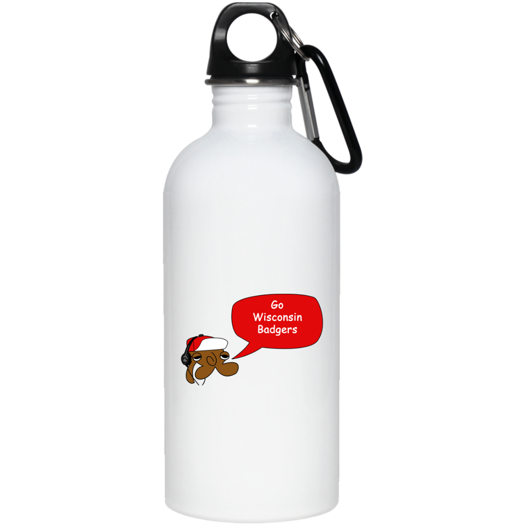 JimmyRay Wisconsin Badgers 20 oz. Stainless Steel Water Bottle