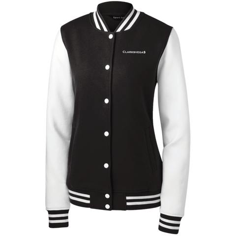 Clarksvegas Women's Fleece Letterman Jacket