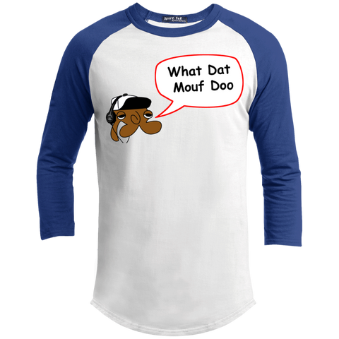 JimmyRay What Dat Mouf Doo Baseball Tee