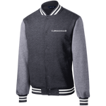 Clarksvegas White Star Fleece Letterman Jacket