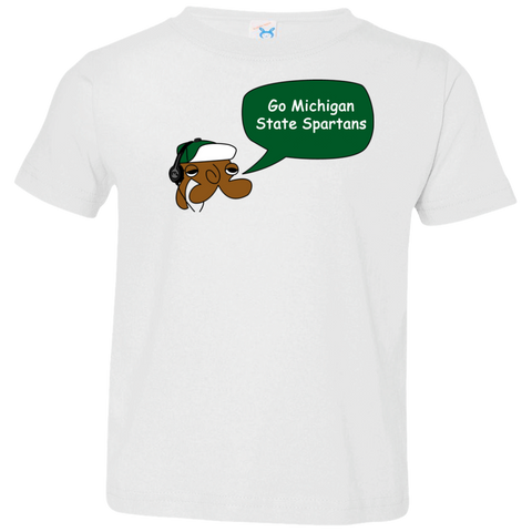 Jimmyraynemkids Michigan State Toddler Jersey T-Shirt